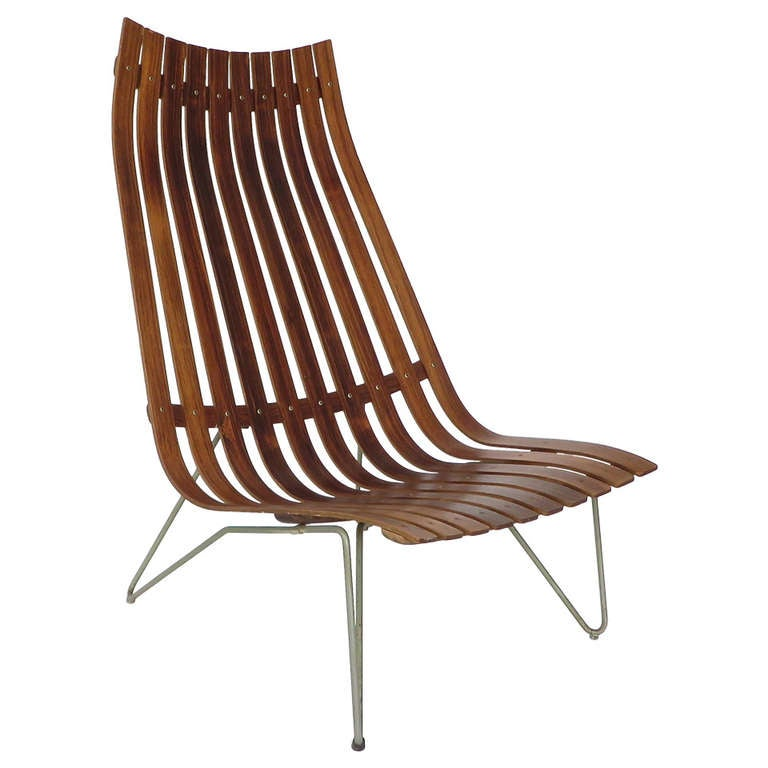 Hans Brattrud Rosewood Lounge Scandia Lounge Chair At 1stdibs