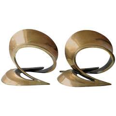 Pair of Bronze Bookend Sculptures by Bob Bennett, Signed 84 Bob Bennett 86/230