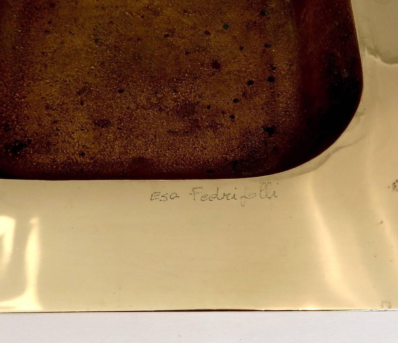 italian bronze bowl or vide poche signed esa fedrigolli at 1stdibs. Black Bedroom Furniture Sets. Home Design Ideas
