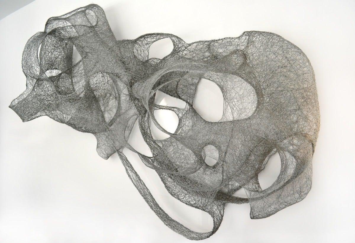 Modern Eric Gushee Woven Wire Sculpture