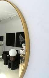 Italian Modern Minimalist Round Brass Framed Mirror image 4