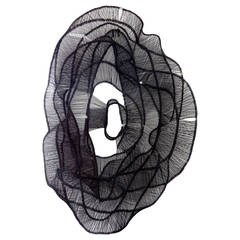 Eric Gushee Emergence #18 Annealed Black Steel Woven Metal Sculpture, 2015
