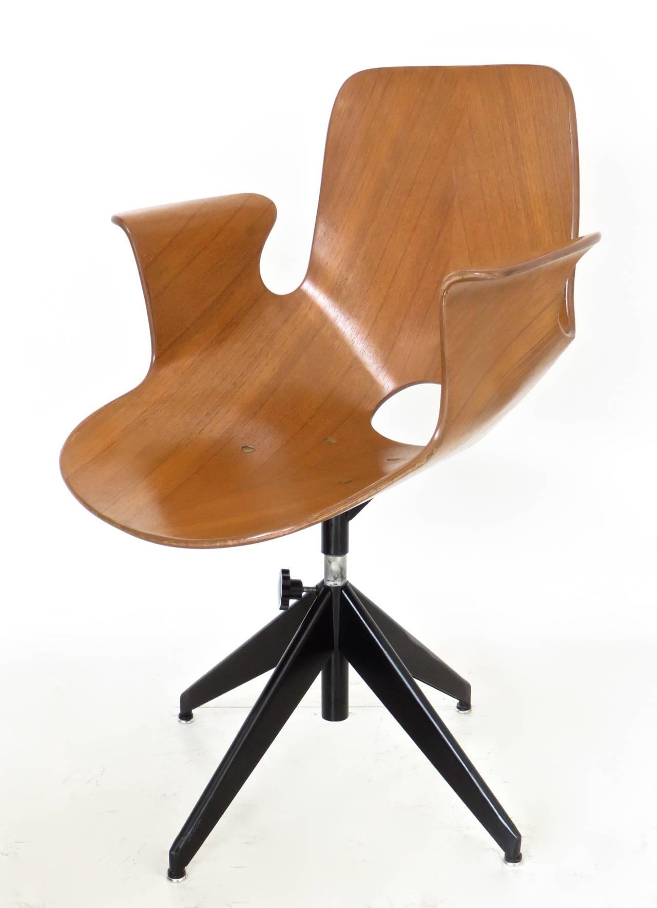 Italian Medea Desk Chair by Vittorio Nobili for Tagliabue at 1stdibs