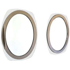 Pair of Italian Beveled Mirrors by Cristal Arte