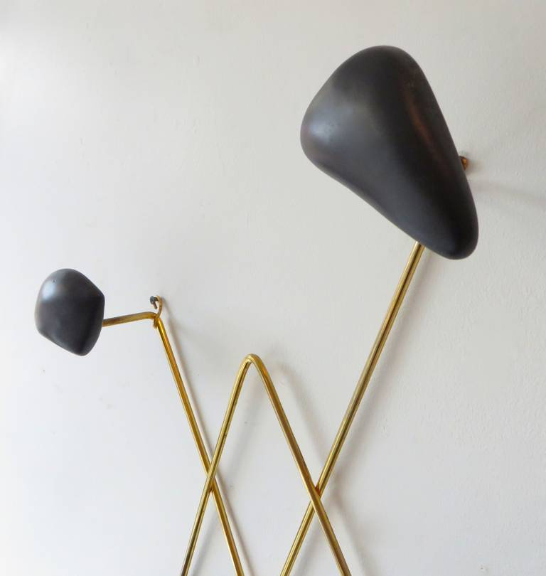 Wall-Mounted Coat Rack by Georges Jouve and Asselbur In Excellent Condition For Sale In Chicago, IL