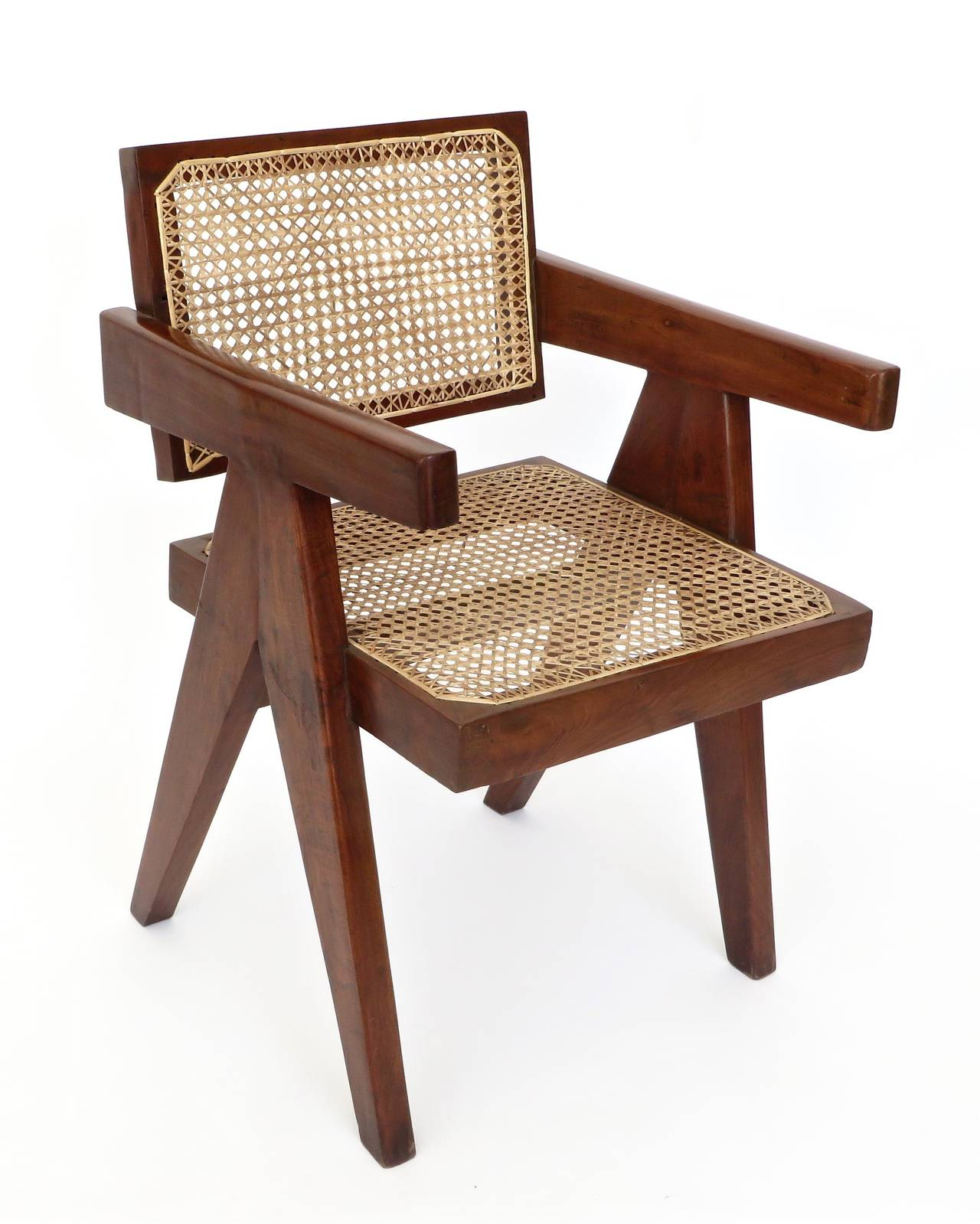 Pair of office dining chairs by pierre jeanneret from