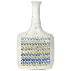 Italian Ceramic Bottle by Bruno Gambone