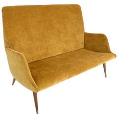 High Back Italian Settee, Small Sofa or Canape by Carlo di Carli