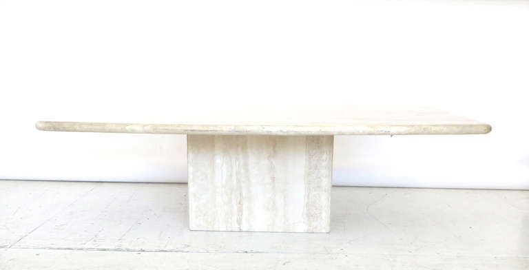Italian Travertine Marble Coffee Table In Two Parts By Ello 3