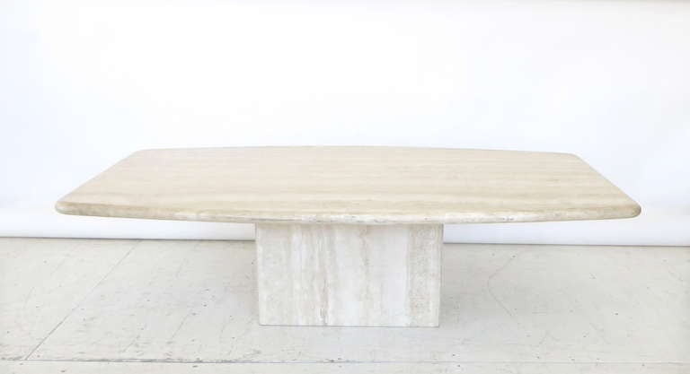 Italian Travertine Marble Coffee Table In Two Parts By Ello 2