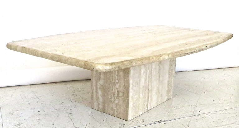 Italian Travertine Marble Coffee Table In Two Parts By Ello At 1stdibs