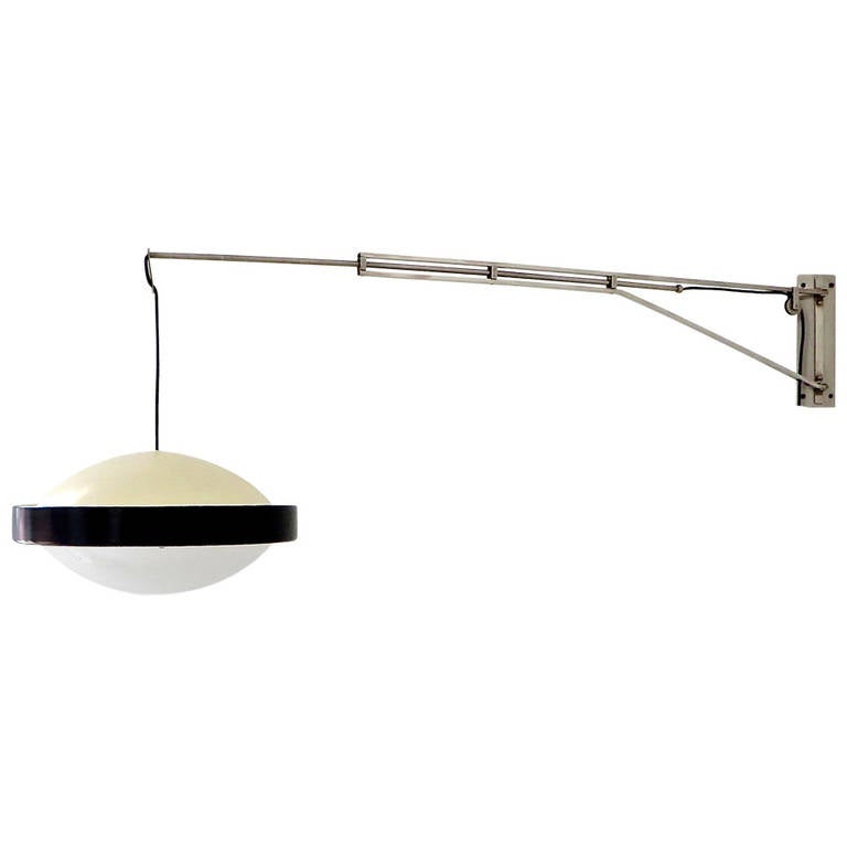 Wall Lamp With Extending Arm : Italian Wall Lamp by Stilnovo with Extending Arm For Sale at 1stdibs