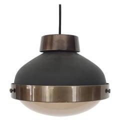 Italian Ceiling Lamp by Gino Sarfatti Model 3027p, for Arteluce