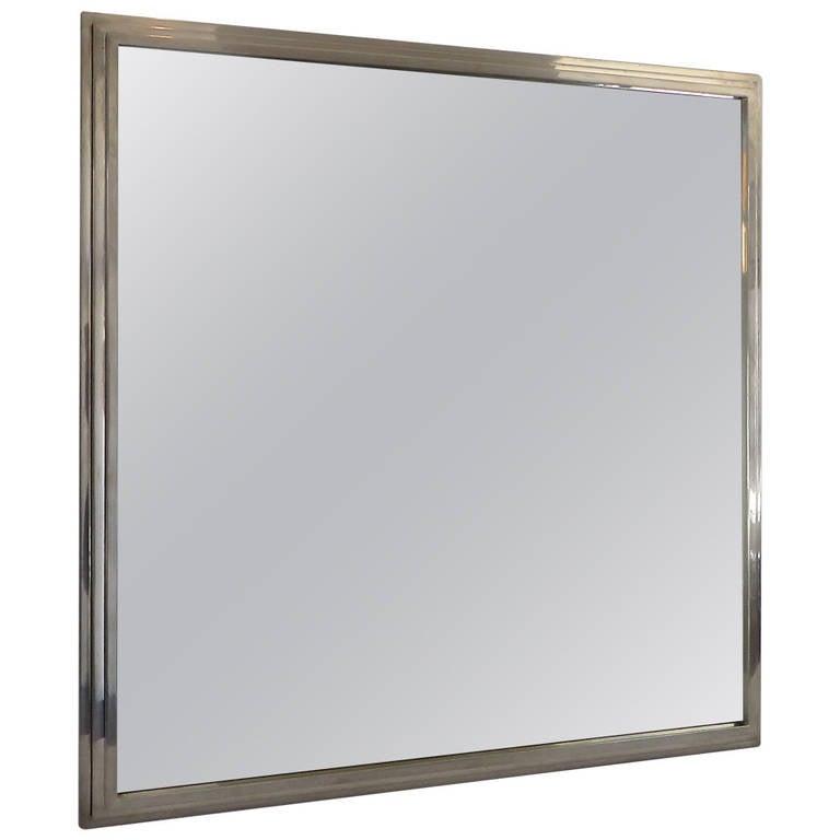 Elegant italian chrome mirror by romeo rega at 1stdibs for Elegant mirrors
