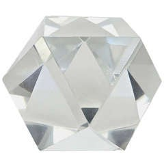 Faceted Crystal Paperweight by Baccarat