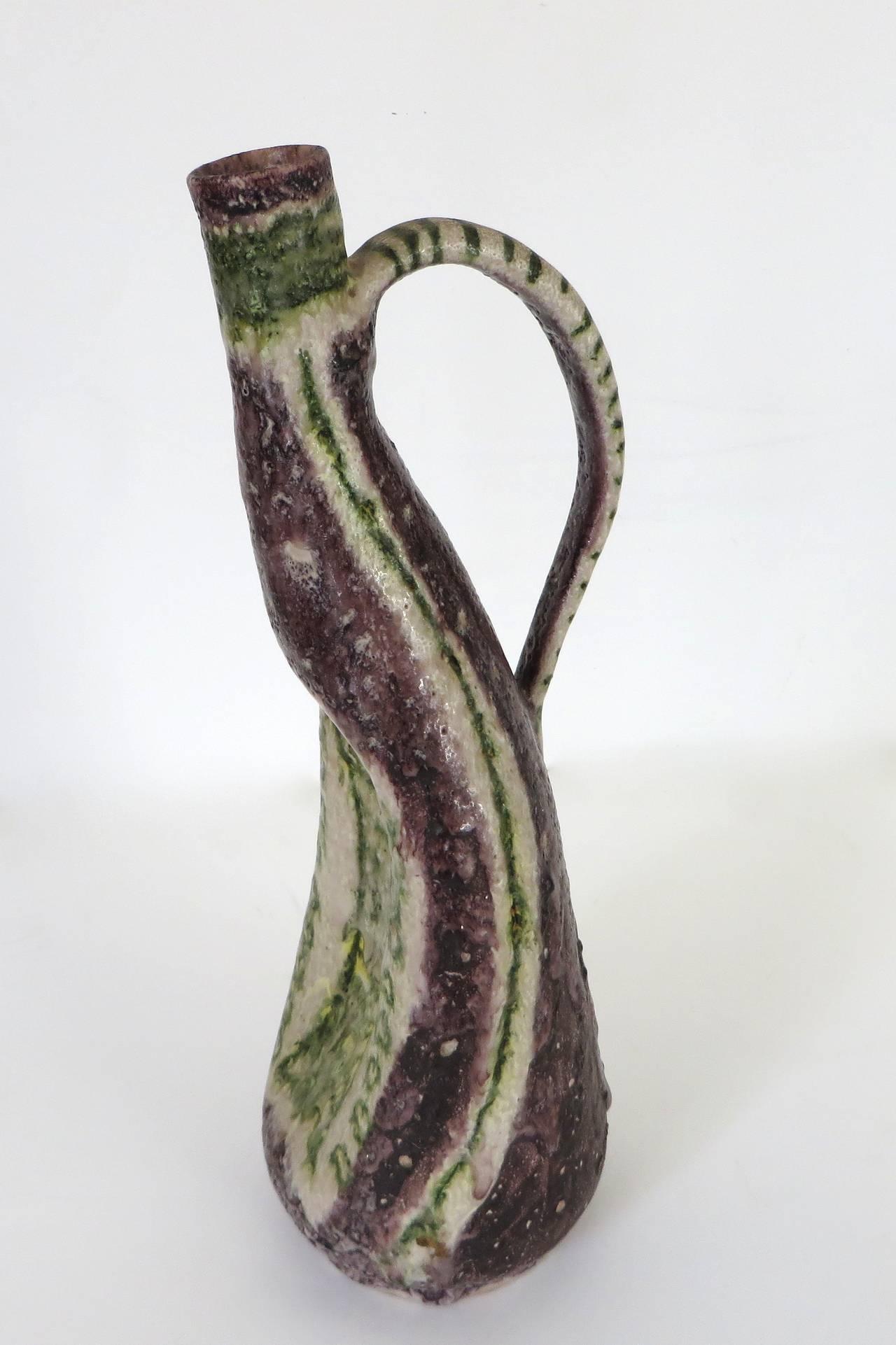 Italian Ceramic Pitcher by Guido Gambone 3
