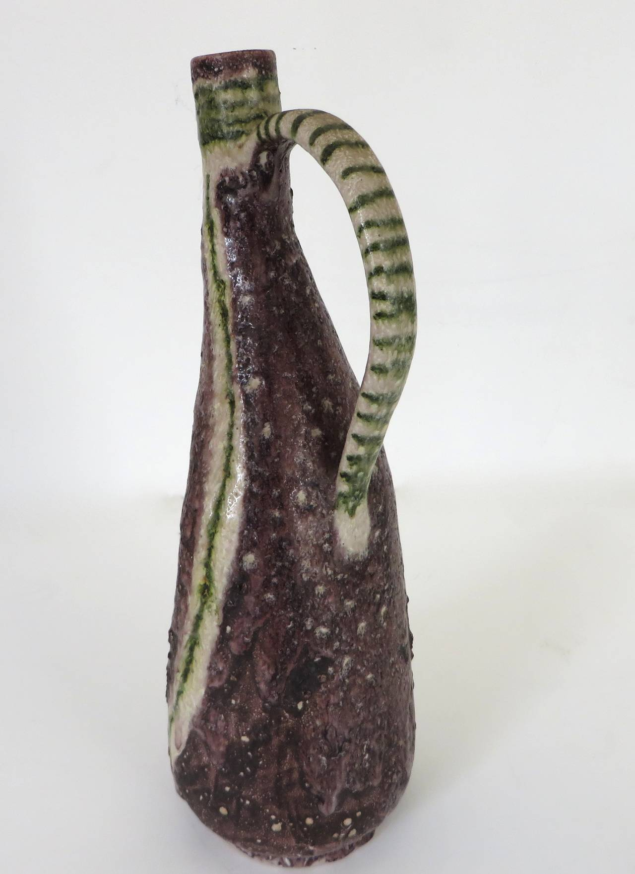 Italian Ceramic Pitcher by Guido Gambone 5