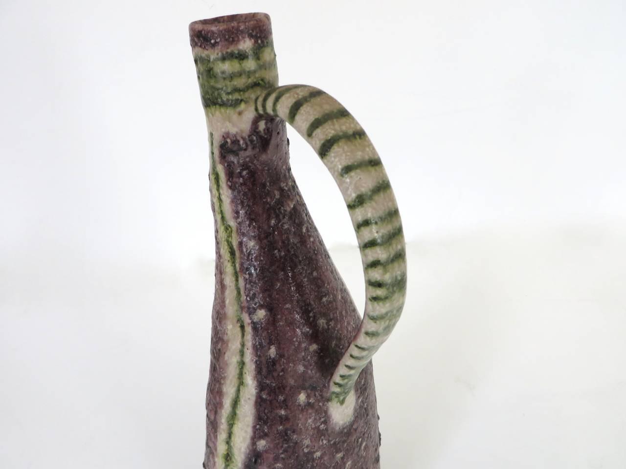 Italian Ceramic Pitcher by Guido Gambone 6