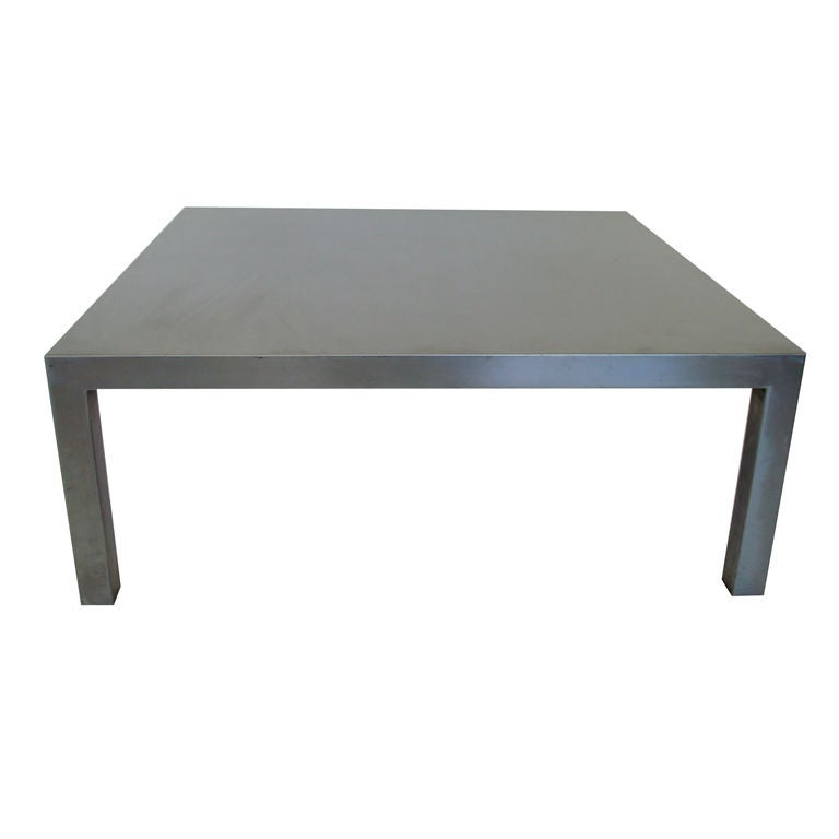 Maria Pergay Stainless Steel Coffee Table