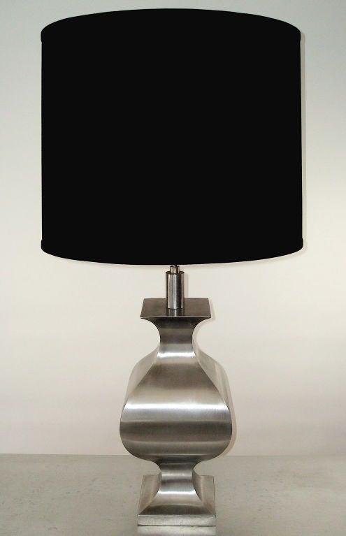 A Chic Matte Steel Table Lamp by Jansen in Orientalist ...