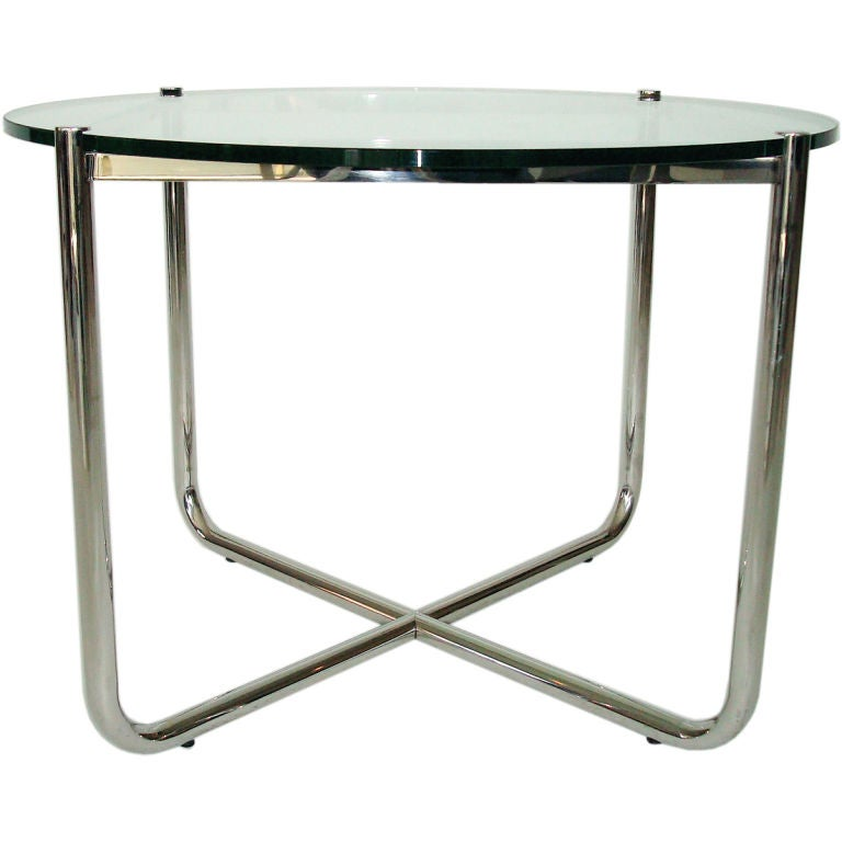 International Style Mr Side Table By Mies Van Der Rohe For