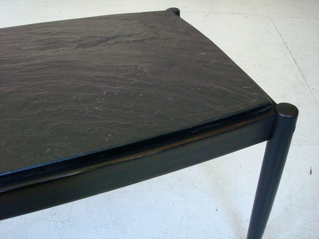 French Slate And Oak Coffee Table For Sale At 1stdibs