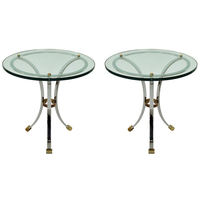Pair of Side Tables by Maison Jansen