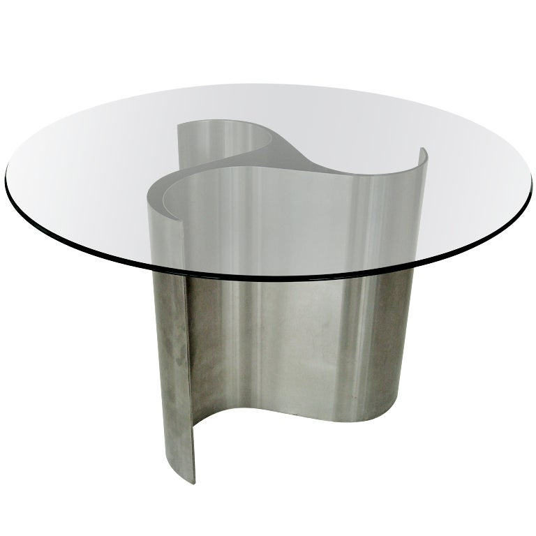 French Dining Or Center Table By Patrice Maffei Model