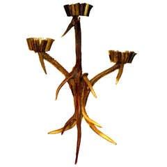 Black Forest Three-Arm Antler Candelabra