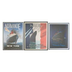 Three Framed Vintage Nautical Posters