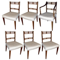 Set of Six Regency Style Mahogany Dining Chairs