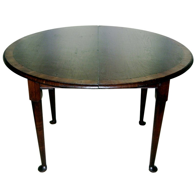 42 Round Breakfast Games Dining Table With 18 Leaf At 1stdibs