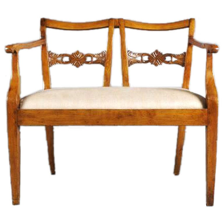 Continental fruitwood settee for sale at 1stdibs for Settees for sale