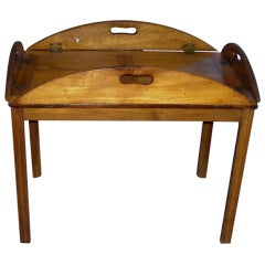 Early 19th Century Butlers Tray On Later Stand