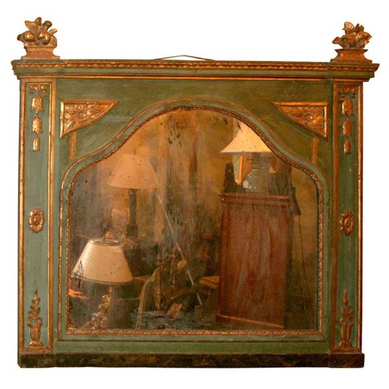 18th Century Carved Wood Italian Mirror