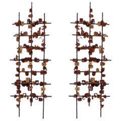 Pair of Midcentury Bronze Sconces by Jean Mahon