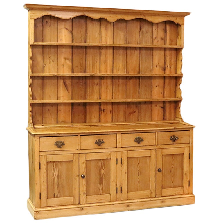 Early 19th Century English Pine Welsh Dresser