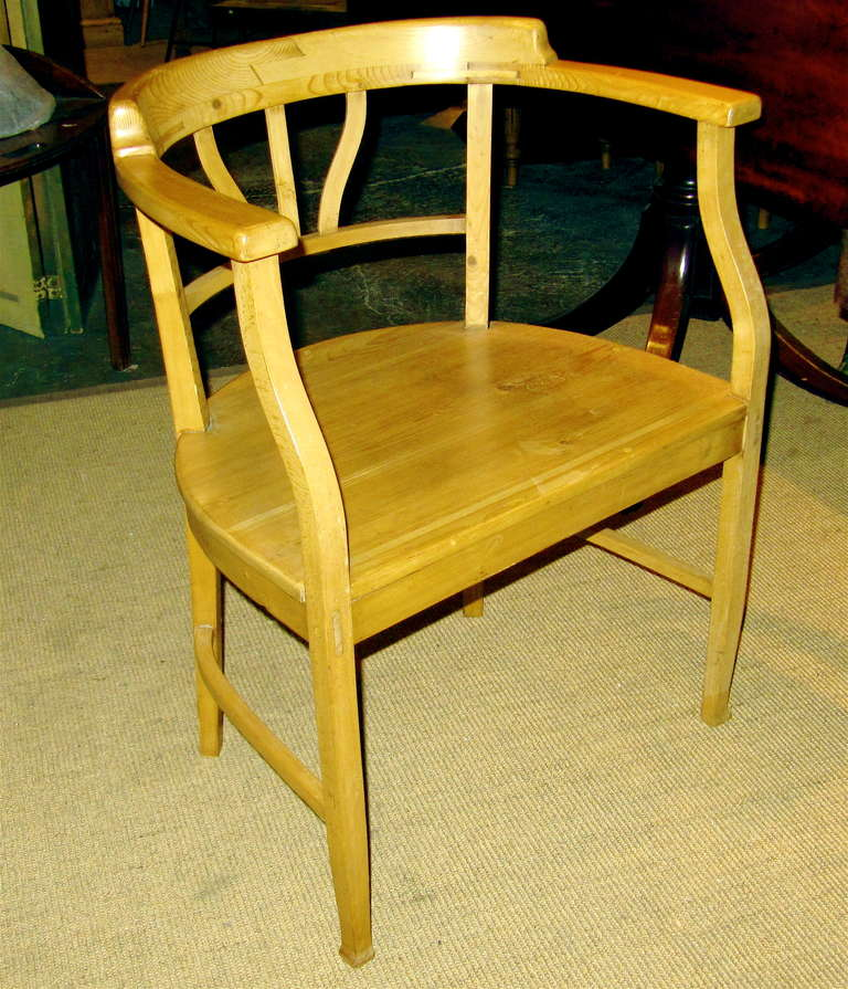 Charming Irish Pine Barrel Back Arm Chair at 1stdibs : IMG0123l <strong>Large</strong> Desk from www.1stdibs.com size 768 x 895 jpeg 116kB