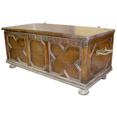 17th Century Style English Oak Coffer