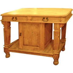 English Pine Center Table
