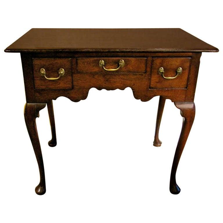 18th Century English Oak Lowboy For Sale