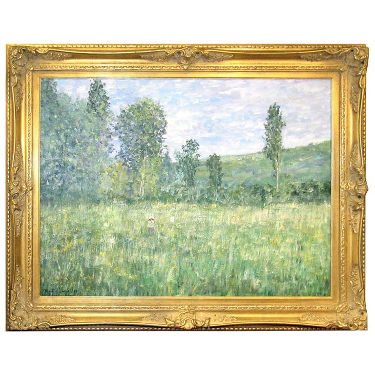 Impressionistic Landscape, Oil on Canvas Landscape, Martin Jewell For Sale