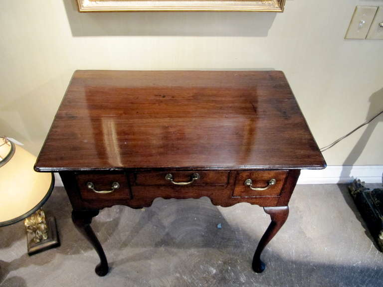 George III 18th Century English Oak Lowboy For Sale
