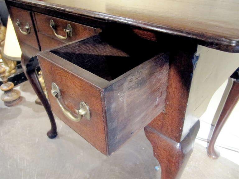 British 18th Century English Oak Lowboy For Sale