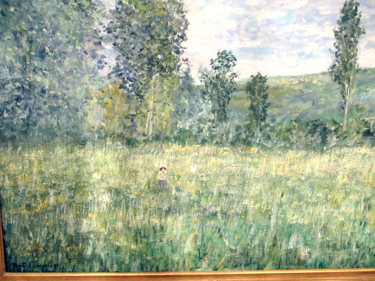 Impressionistic Landscape, Oil on Canvas Landscape, Martin Jewell In Excellent Condition For Sale In Buchanan, MI