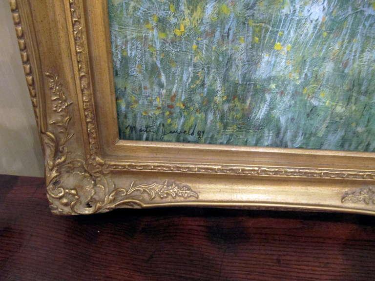 American Impressionistic Landscape, Oil on Canvas Landscape, Martin Jewell For Sale