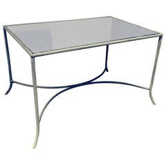 Zinc and Antique Mirror Coffee or Garden Table