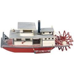 Folk Art Steamship of Large-Scale