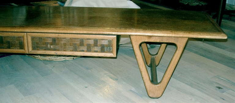 Midcentury Coffee Table of Great Form in the Style of Persal 3