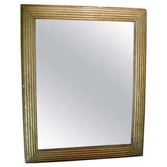 Very Nice Directoire Giltwood Mirror With Original Plate